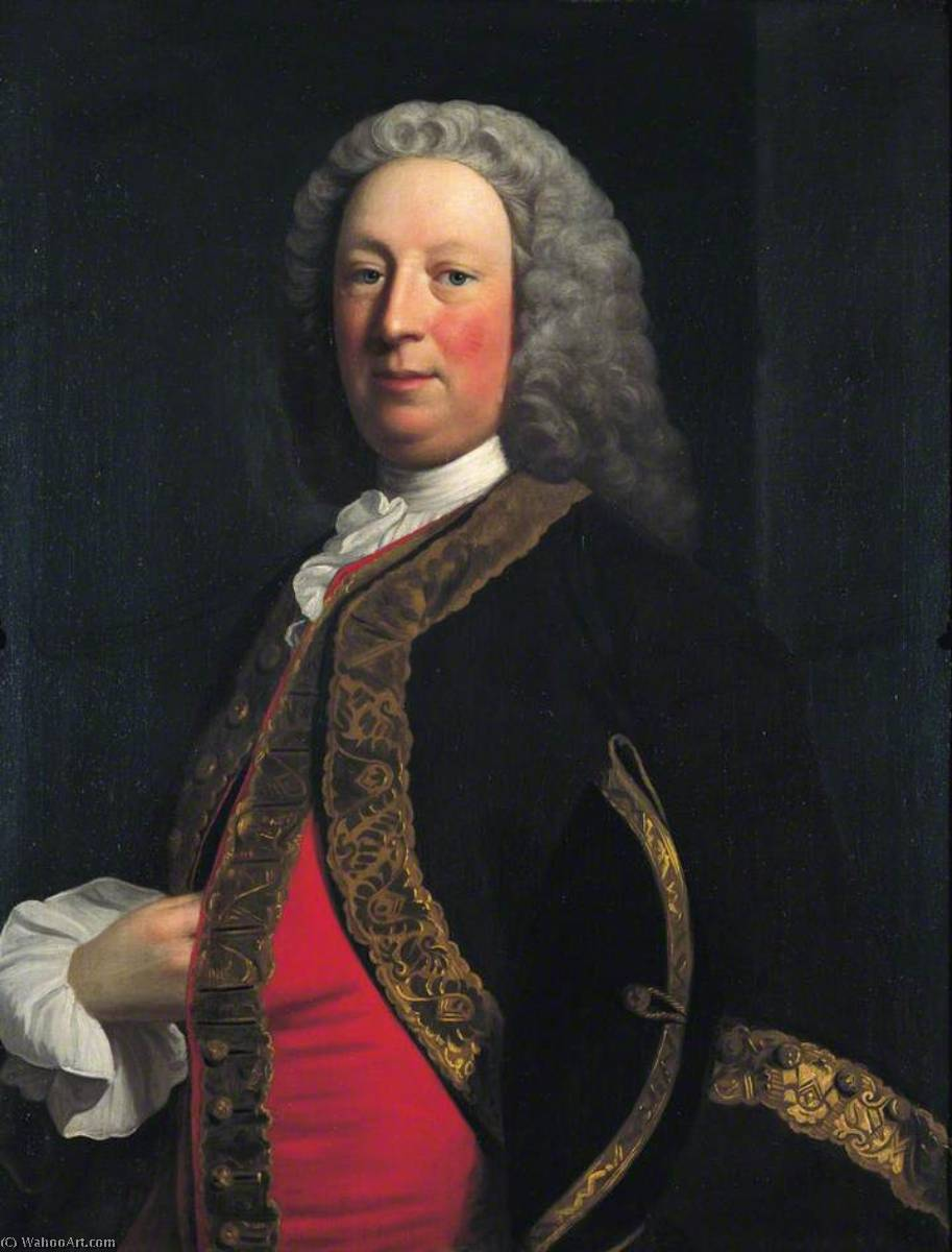 Wikioo.org - The Encyclopedia of Fine Arts - Painting, Artwork by Allan Ramsay - Sir Merrik Burrell (1699–1787), Bt, Governor of the Bank of England (1758–1760)