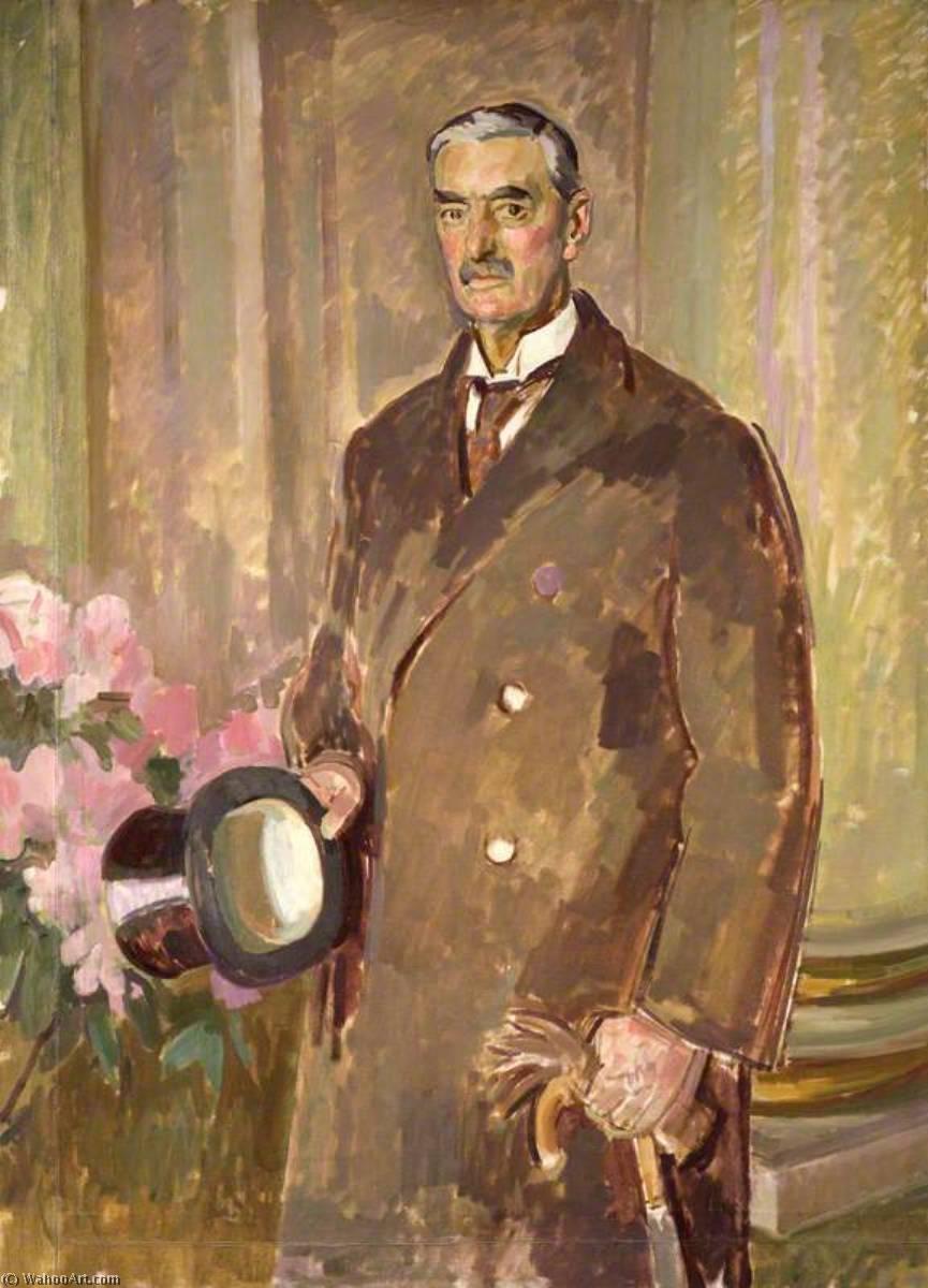 Wikioo.org - The Encyclopedia of Fine Arts - Painting, Artwork by Henry Lamb - (Arthur) Neville Chamberlain