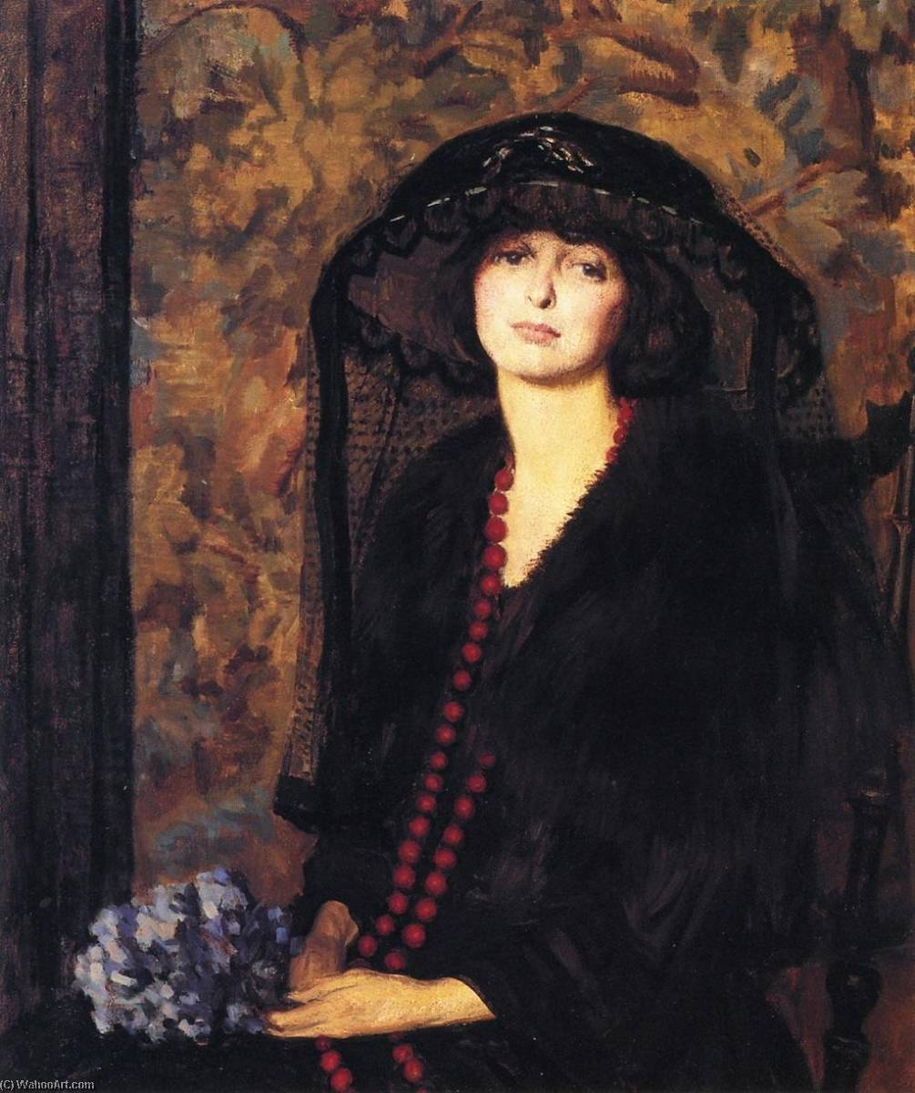 Wikioo.org - The Encyclopedia of Fine Arts - Painting, Artwork by Philip Leslie Hale - Lady in Black