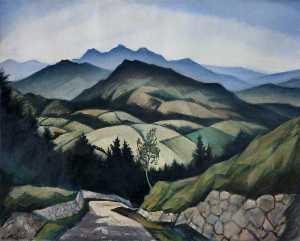 A Mountain Landscape in Wales