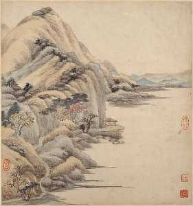 清 王鑑 仿古山水圖 冊 紙本 Landscapes in the styles of ancient masters