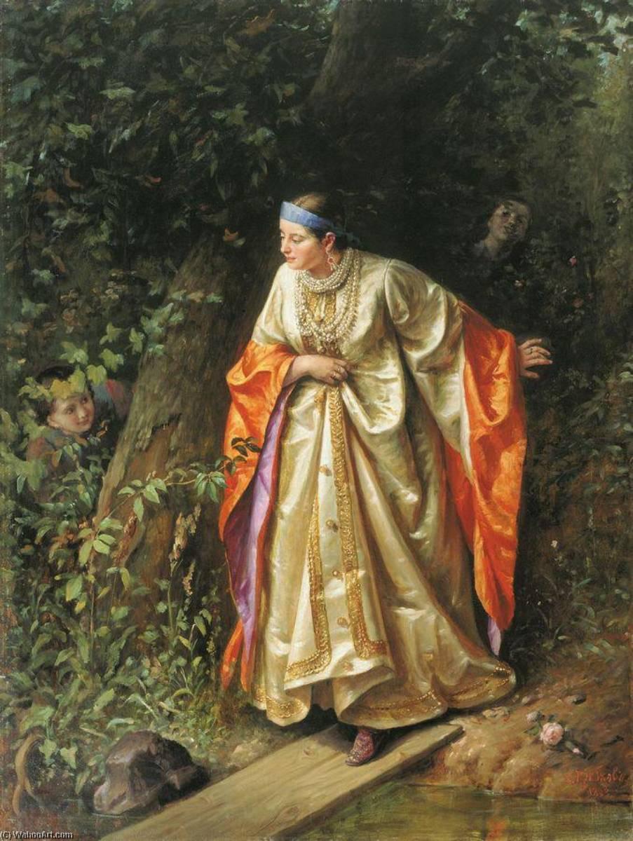 Wikioo.org - The Encyclopedia of Fine Arts - Painting, Artwork by Sergei Gribkov - Hide And Seek