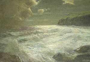A Coastal View with a Lighthouse