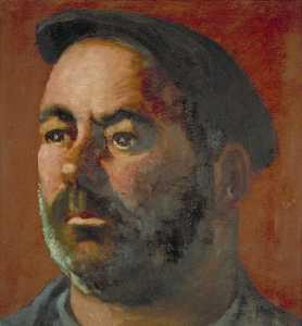 Bearded Man Wearing a Beret