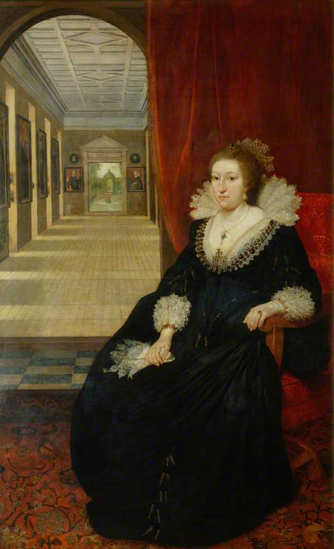 Wikioo.org - The Encyclopedia of Fine Arts - Painting, Artwork by Daniel I Mijtens - Alathea, Countess of Arundel and Surrey