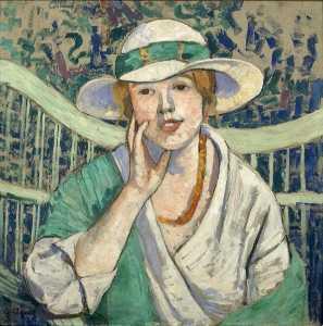 Le chapeau blanc et vert La femme au chapeau blanc et vert (Titre attribué)