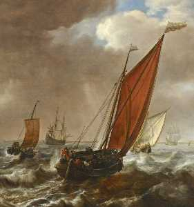 A Dutch Ferry Boat before a Breeze