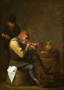 Old Men Having a Smoke