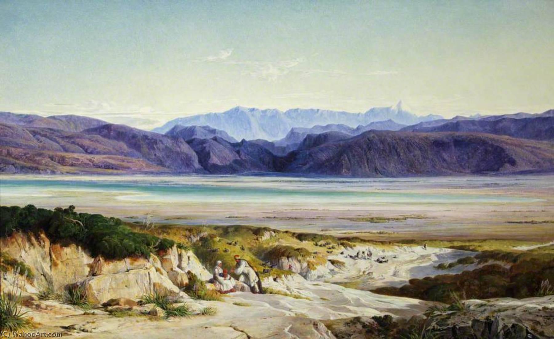 WikiOO.org - Enciclopedia of Fine Arts - Pictura, lucrări de artă Edward Lear - The Mountains of Thermopylae