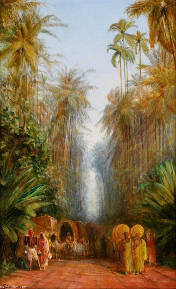 WikiOO.org - Enciclopedia of Fine Arts - Pictura, lucrări de artă Edward Lear - Road near Galle, Ceylon