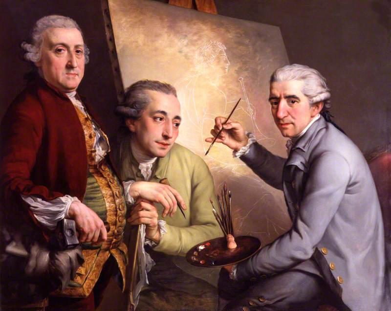 Wikioo.org - The Encyclopedia of Fine Arts - Painting, Artwork by John Francis Rigaud - Agostino Carlini Francesco Bartolozzi Giovanni Battista Cipriani