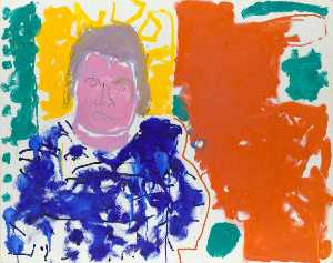 A. S. Byatt (Portrait of A S Byatt Red, Yellow, Green and Blue 24 September 1997)