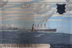 'There is no uninhabitable unnavigable' (triptych, right wing)