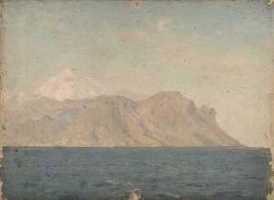 A Coastal Scene (probably the Peak of Tenerife)