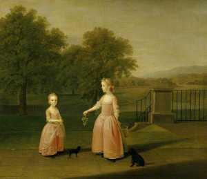 The Edgar Children Charlotte Edgar and Her Sister Elizabeth Edgar, of Red House Park, Ipswich