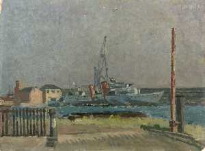 A Destroyer in the West India Dock, London