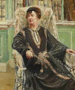 Dame Freya Stark (1893–1993), Seated in a Chair