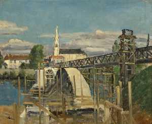 Construction of the New Bridge at St Julian sur Viérre