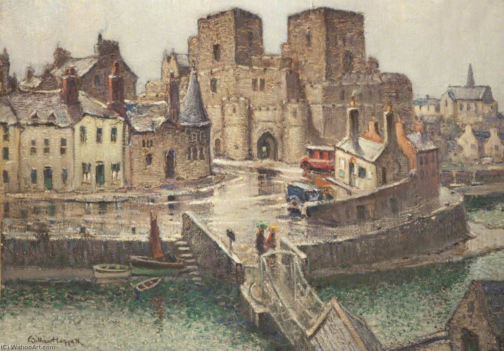 Wikioo.org - The Encyclopedia of Fine Arts - Painting, Artwork by William Hoggatt - Castle Rushen from the Bridge House