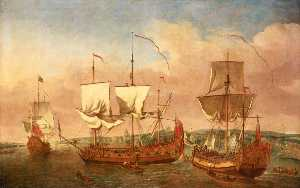 The 'Peregrine' and Other Royal Yachts off Greenwich, c.1710