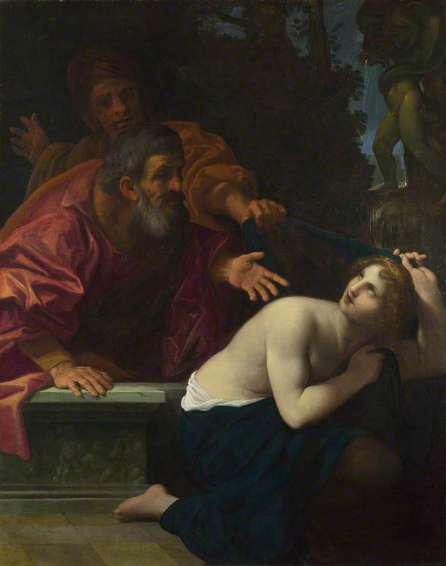 Wikioo.org - The Encyclopedia of Fine Arts - Painting, Artwork by Lodovico Carracci - Susannah and the Elders