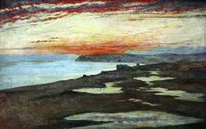 A Coast Study, Sunset, Seaford