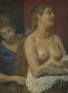 A Maid combing a Woman's Hair