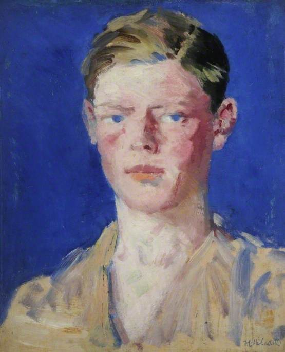 Wikioo.org - The Encyclopedia of Fine Arts - Painting, Artwork by Francis Campbell Boileau Cadell - Portrait of a Young Man