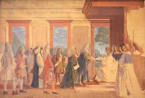Sketch for Mural in St Stephen's Hall, Westminster (The English and Scottish Commissioners Present the Articles of Agreement for the Union to Queen Anne, 1707)