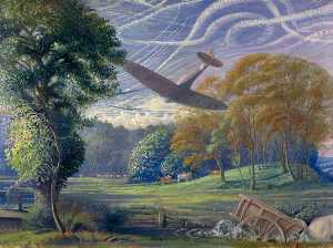 Southern England Spitfires Attacking Flying Bombs