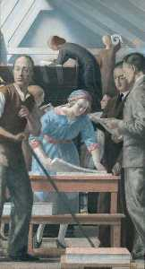 St Luke's Printing Works (study for a large painting)