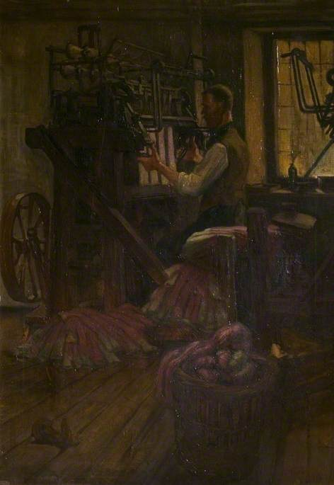Wikioo.org - The Encyclopedia of Fine Arts - Painting, Artwork by Harry Morley - A Framework Knitter