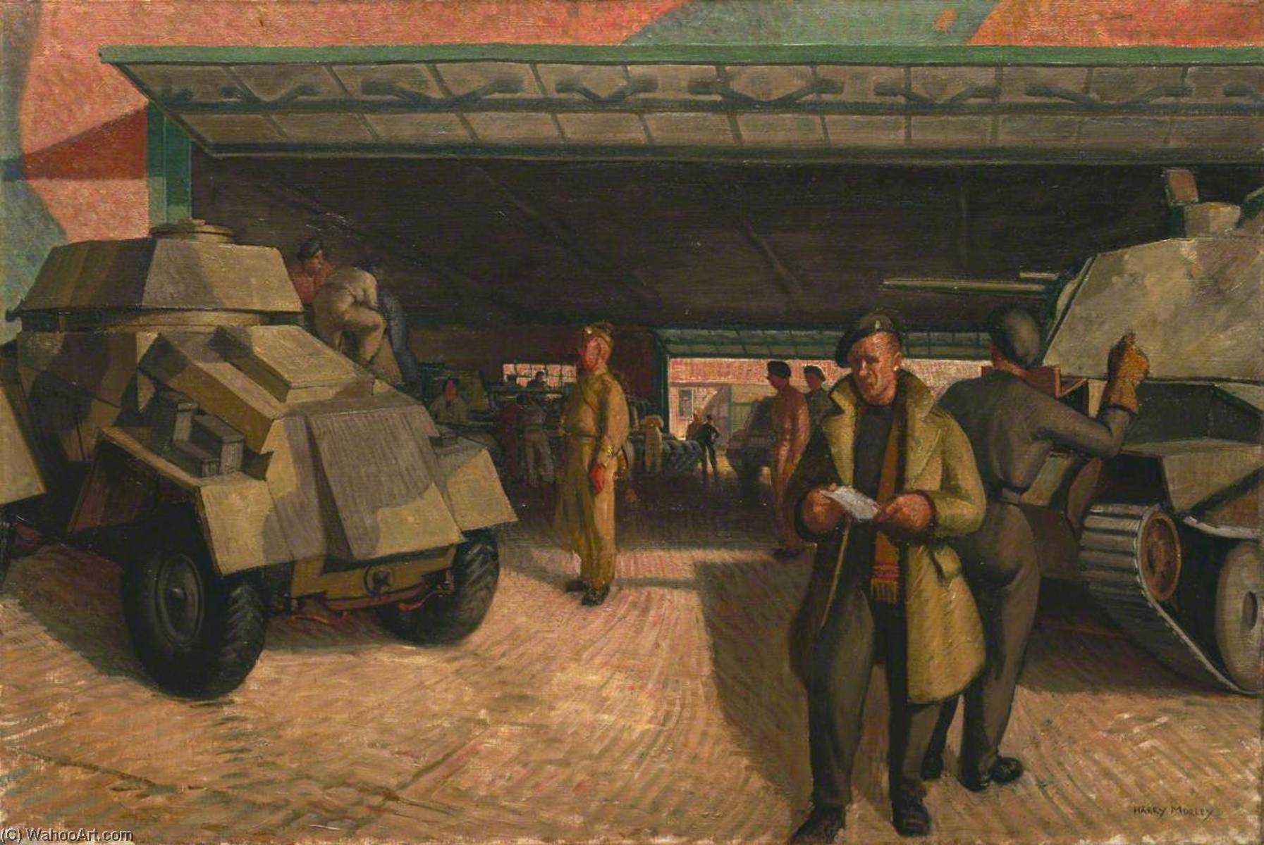 Wikioo.org - The Encyclopedia of Fine Arts - Painting, Artwork by Harry Morley - The Tank Park