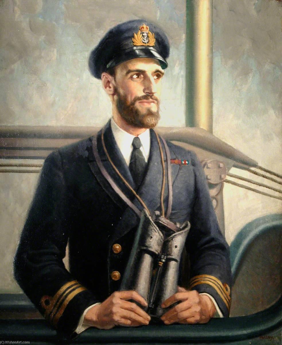 Wikioo.org - The Encyclopedia of Fine Arts - Painting, Artwork by Harry Morley - Lieutenant Commander Wanklyn
