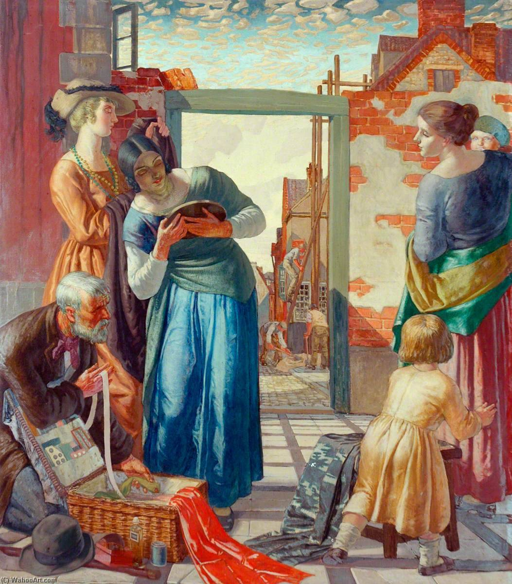 Wikioo.org - The Encyclopedia of Fine Arts - Painting, Artwork by Harry Morley - The Pedlar