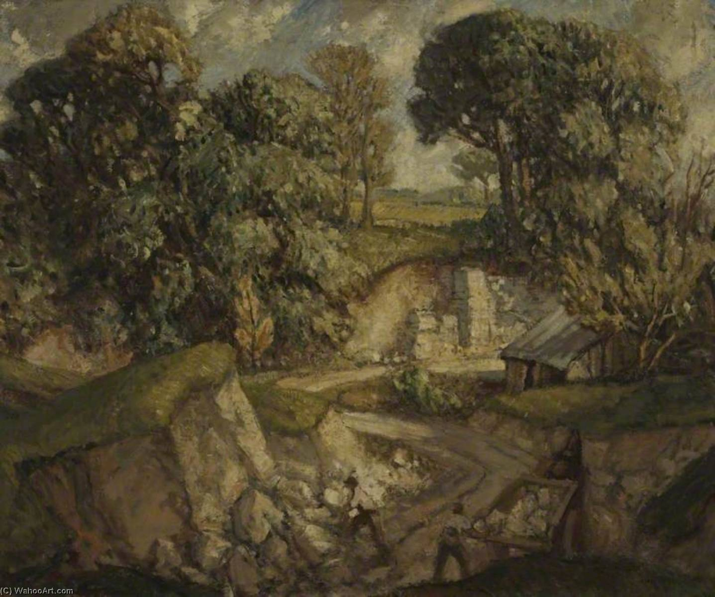 Wikioo.org - The Encyclopedia of Fine Arts - Painting, Artwork by Harry Morley - Dorset Chalk Quarry