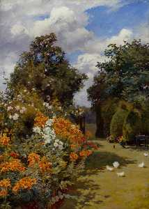 Orange Lilies, Broadway, Worcestershire