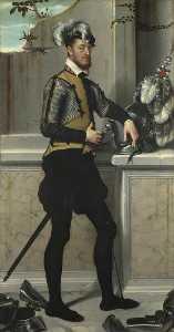 A Knight with his Jousting Helmet ('Il Cavaliere dal Piede Ferito', Conte Faustino Avogadro ( ) )