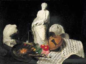 Fantaisie d'artiste nature morte symbolique