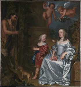 Portrait of a Lady and a Boy, with Pan