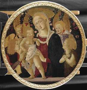 LA VIERGE ET L'ENFANT (avec un jeune saint, le petit saint Jean Baptiste et deux anges)
