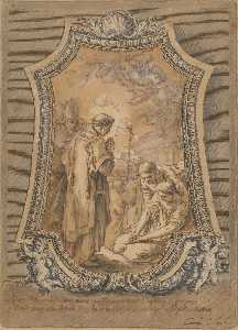 Life of St Gregory Saint Gregory as Deacon Directing Prayers and Processions for the Cessation of the Plague