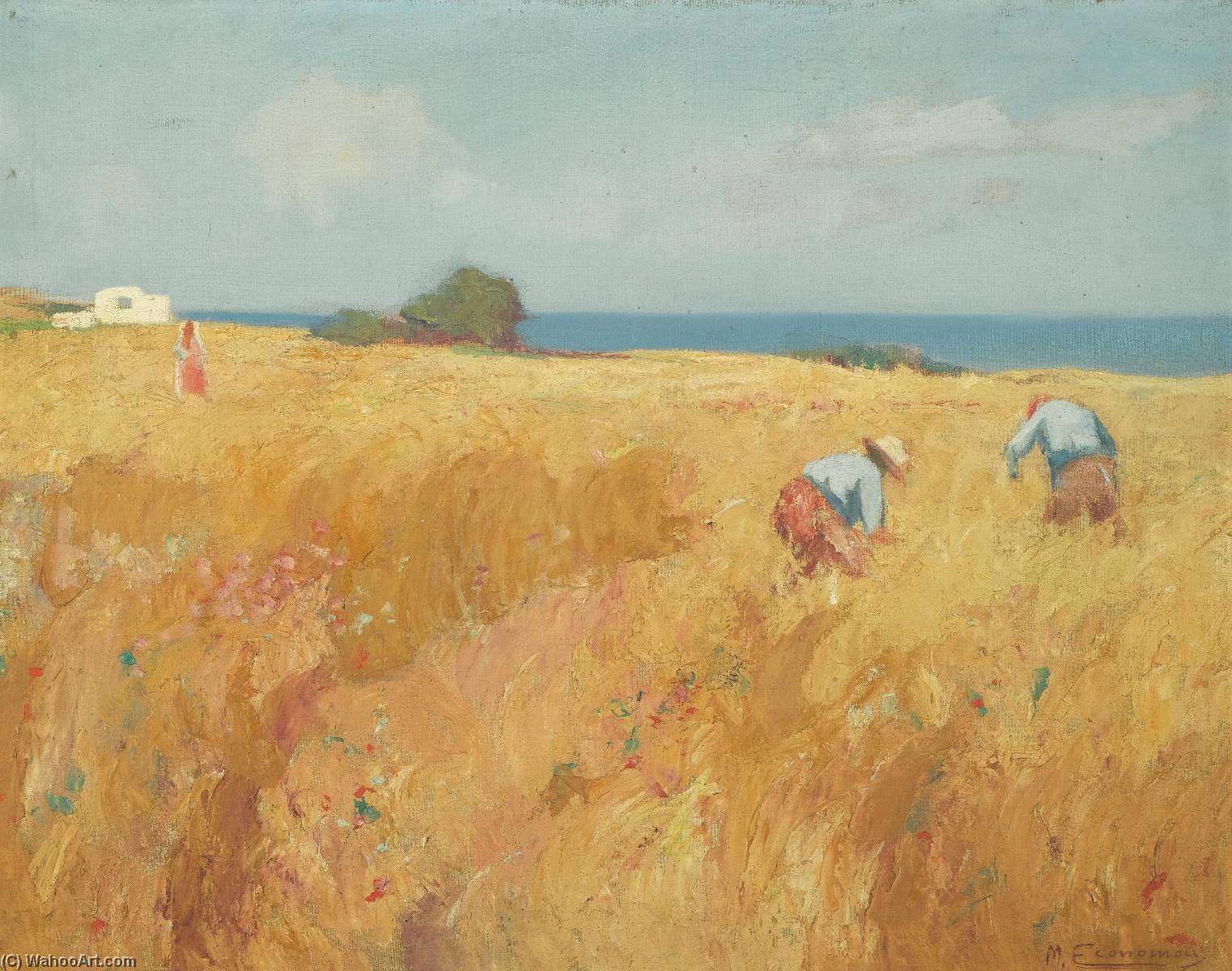 Wikioo.org - The Encyclopedia of Fine Arts - Painting, Artwork by Michalis Economou - In the Field