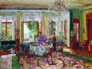 Interior of a Salon in Brasovo
