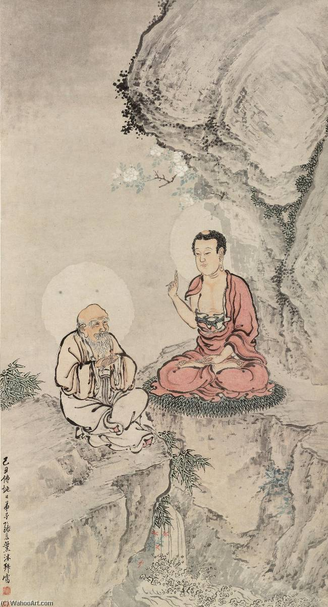 Wikioo.org - The Encyclopedia of Fine Arts - Painting, Artwork by Zhang Hong - TEACHING SUTRAS