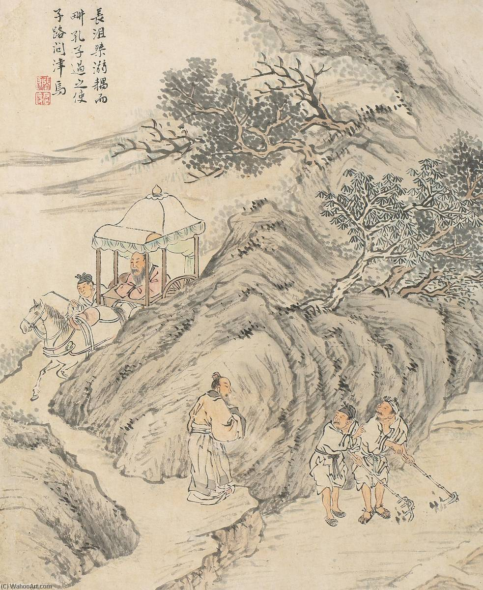 Wikioo.org - The Encyclopedia of Fine Arts - Painting, Artwork by Zhang Hong - ILLUSTRATIONS FROM THE ANALECTS AND MENCIUS