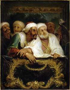 The Moroccan Ambassador and His Entourage at the Italian Comedy in Paris in February 1682