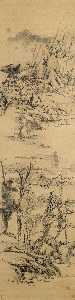 Landscape in the style of Wang Meng, (c. 1309 1385)