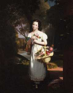 Little Girl with Flowers (also known as Amelia Palmer)