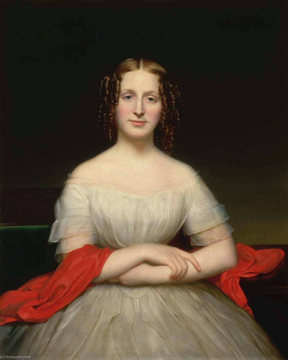 Wikioo.org - The Encyclopedia of Fine Arts - Painting, Artwork by Charles Cromwell Ingham - Portrait of Fidelia Marshall